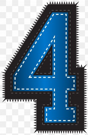 Blue Sport Style Number Four Clip Art Image - Clip Art PNG