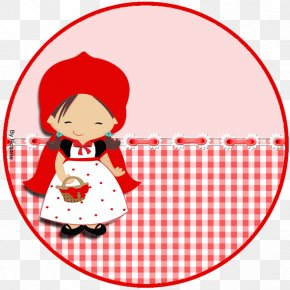 Paper Little Red Riding Hood Label Printing Adhesive PNG