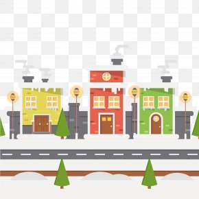 Snow City - Christmas Illustration PNG