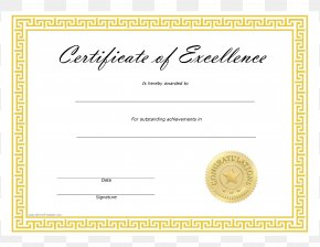Template For Vocational Skills Certificate - Template Microsoft Word Excellence Academic Certificate PNG