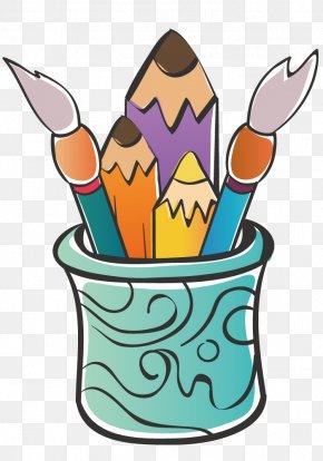 Bucket Brush Tool - Paintbrush Painting Clip Art PNG
