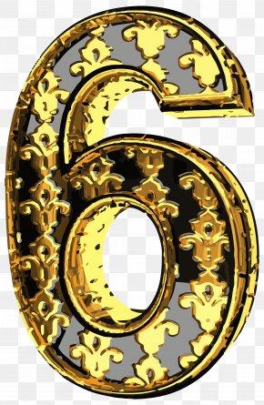 Elegant Vintage Number Six Clip Art Image - Elegance Vintage Clothing Clip Art PNG