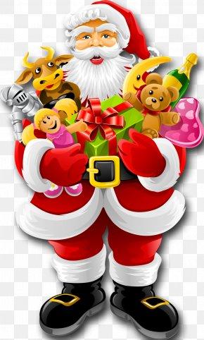 Creative Christmas - Santa Claus Snegurochka Christmas Card Clip Art PNG