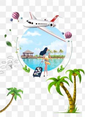 Summer Vacation Travel - Arecaceae Coconut Euclidean Vector Tree PNG