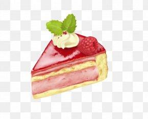Strawberry Pulp Layer Cake - Strawberry Cream Teacake Layer Cake Cheesecake PNG