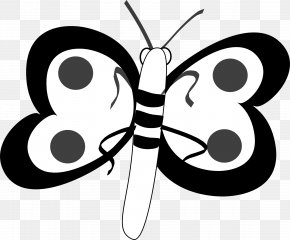 Adobe Illustrator Clipart - Butterfly Black And White Clip Art PNG