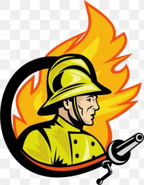 Hand Painted Fireman Logo - Firefighter Fire Department Logo Royalty-free Clip Art PNG