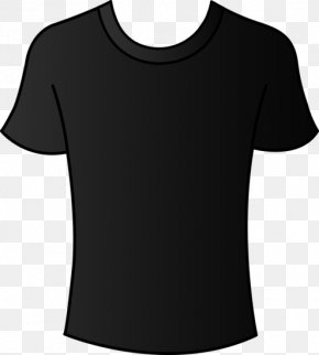 Black T-Shirt Clip Art Round Neck - T-shirt Bible Sleeve Escape From Perdition PNG