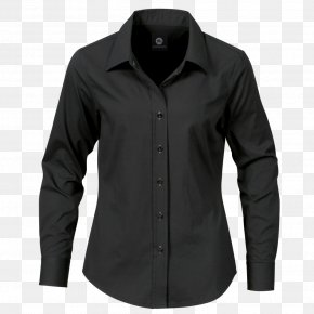 Black Dress Shirt Image - T-shirt Dress Shirt Clothing PNG