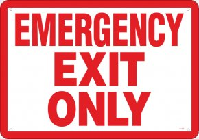 Emergency Exit Signs - Emergency Exit Exit Sign Door Safety PNG