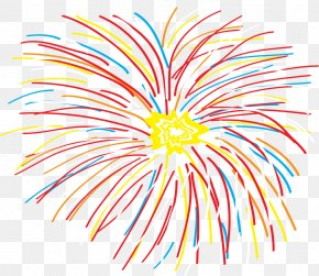 Colorful Fireworks - Abstract Art Graphic Design Clip Art PNG