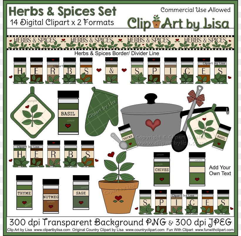 Country Lane Graphics Set by Original Country Clipart by Lisa