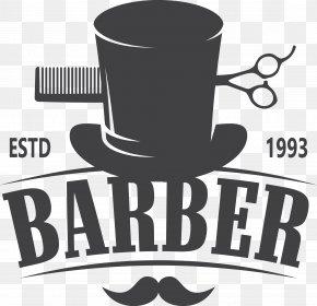 Vector Barber Shop Logo - Barber Comb Hairdresser Hairstyle Logo PNG