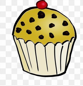 Muffin Icing - Yellow Cupcake Baking Cup Clip Art Dessert PNG