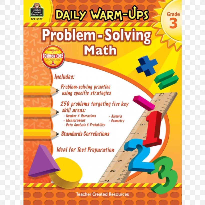 Daily Warm-Ups: Problem Solving Math Grade 4 Mathematics Teacher Word Problem, PNG, 900x900px, Problem Solving, Area, Art Paper, Education, Fifth Grade Download Free