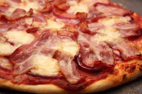 Bacon - Pizza Bacon Hamburger Barbecue Sauce PNG