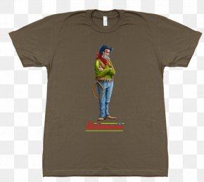 T-shirt - T-shirt Sleeve Top Crew Neck PNG