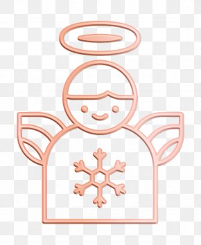 Pink Winter Icon - Angel Icon Christmas Icon Decor Icon PNG