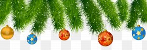 Pine Christmas Decoration Clipart Image - Christmas Decoration Christmas Ornament Santa Claus PNG
