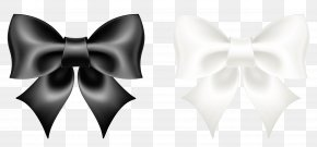 Black And White Bow Clipart Picture - Black And White Bow Tie PNG