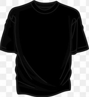 Shirt - T-shirt Black Clip Art PNG