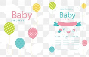 Baiyun Background Newborn Invitation Card - Computer Network Cloud Gratis PNG