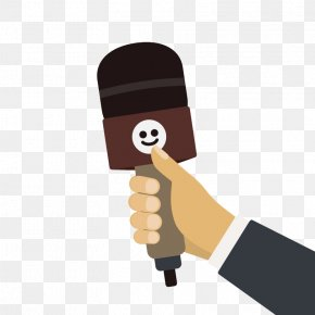 Cartoon Grip Microphone Arm Vector Material - Microphone Drawing Cartoon Illustration PNG