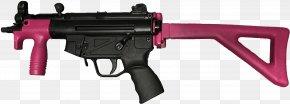 Machine Gun - Heckler & Koch MP5 M4 Carbine Submachine Gun Firearm Personal Defense Weapon PNG