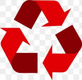 Recycle Red - Recycling Symbol Paper Recycling Bin Waste PNG