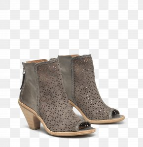 Feminine Goods - Suede Boot Sandal Shoe Brown PNG