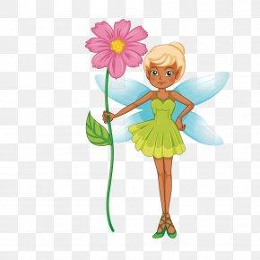 Vector Fashion Classic Lvqun Yellow Hair Elf - Fairy Elf Illustration PNG