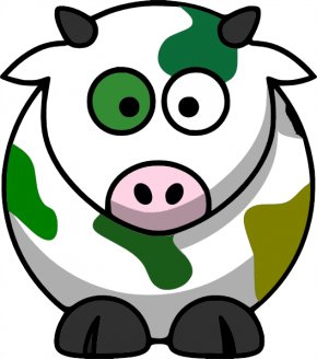 Camouflage Head Cliparts - Cattle Cartoon Drawing Clip Art PNG