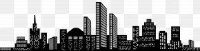 Cityscape Silhouette Clip Art Image - Cityscape Skyline Icon Clip Art PNG
