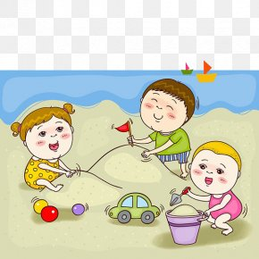 Children Play Sand - Child Make Believe Sand Play PNG
