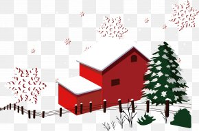 Winter House Snow Warm Winter Material - Christmas Snow Winter House PNG