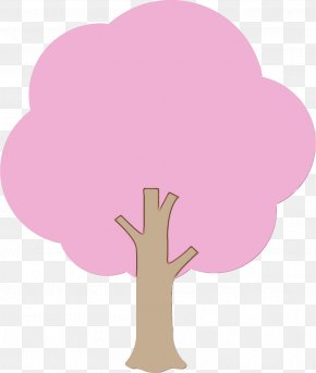 Cloud Plant - Pink Cartoon Tree Hand Clip Art PNG
