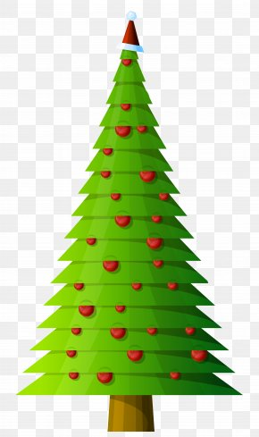 Christmas Tree Modern Style Transparent Clipart - Christmas Tree Clip Art PNG