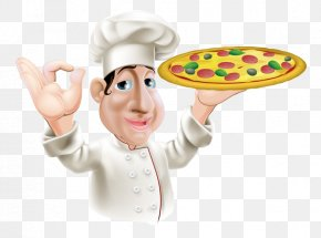 Chef Holding A Pizza - Pizza Italian Cuisine Chef Stock Photography PNG