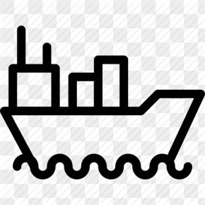 Cruise Ship Outline - Ship ICO Maritime Transport Icon PNG