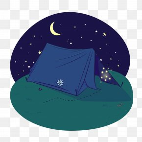Night Outdoors Camping Tent Illustration Vector Illustration - Camping Tent Illustration PNG