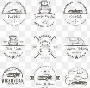 Aesthetic Personality Trademark - Car Logo Drifting Illustration PNG