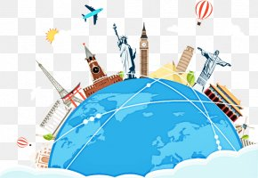 City Air Travel - World Graphic Design Globe Travel Clip Art PNG