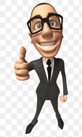 Cartoon Business Man - Businessperson Web Design PNG