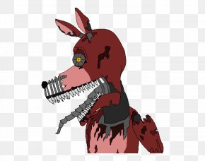 Nightmare Foxy - Five Nights At Freddy's 4 Tongue Fan Art Drawing PNG