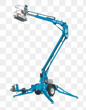 Boom Lift - Aerial Work Platform Genie Elevator Industry Heavy Machinery PNG