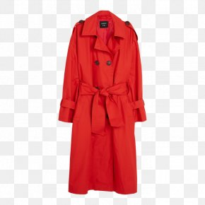Trench Coat Canada - Trench Coat Fashion Red Clothing Bag PNG