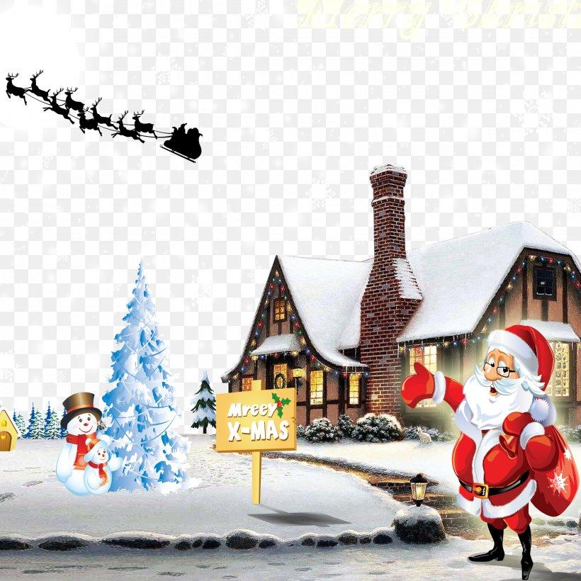 Christmas Tree Santa Claus Christmas Decoration Gift, PNG, 2480x2480px, Rudolph, Art, Christmas, Christmas Card, Christmas Decoration Download Free