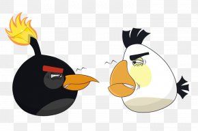 Explosive Birds Quarreled - Angry Birds Stella Cartoon Wallpaper PNG