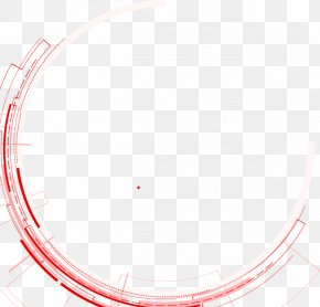 Abstract Red Circle - Line Point Angle PNG