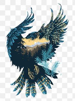 Eagle Landscape Isomorphic - Visual Arts Drawing Illustrator Graphic Design Illustration PNG
